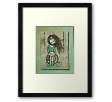 Beach art by ANGIECLEMENTINE Framed Print
