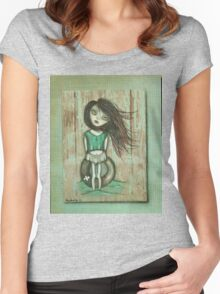 Beach art by ANGIECLEMENTINE Women's Fitted Scoop T-Shirt
