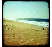 BEACH BLISS - Footprints Photographic Print