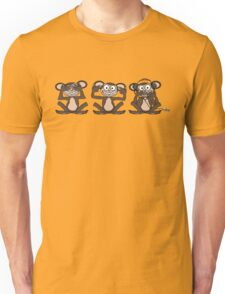 See No Evil Hear No Evil Speak No Evil iPod Tee Unisex T-Shirt