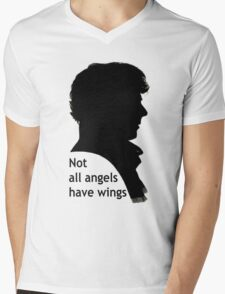 Not All Angels Have Wings - BBC Sherlock Mens V-Neck T-Shirt