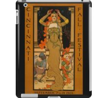 'Fall Festival' Vintage Poster (Reproduction) iPad Case/Skin