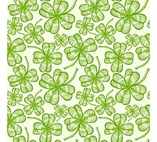 Seamless clovers pattern Photographic Print