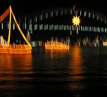 Outline of Sydney Harbour NYE 2008 by bobspics