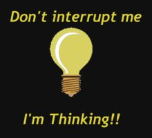 Thinking Light Bulb by 1CrazyDJ