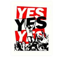 The Yes Movement [White] Art Print