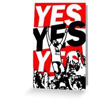 The Yes Movement [White] Greeting Card