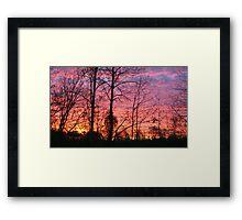 Eastern NC Sunrise Framed Print