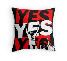 Yes Movement! - Black Throw Pillow