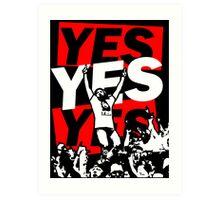 Yes Movement! - Black Art Print