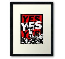 Yes Movement! - Black Framed Print