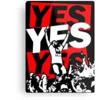 Yes Movement! - Black Metal Print