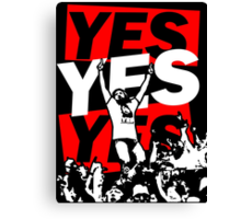 Yes Movement! - Black Canvas Print