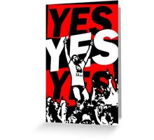 Yes Movement! - Black Greeting Card
