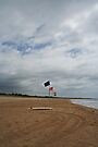 Flags and a surfboard by Evita