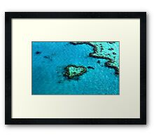 Heart Reef Framed Print