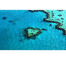 Heart Reef Photographic Print