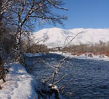 Snowy Naches River by tkrosevear