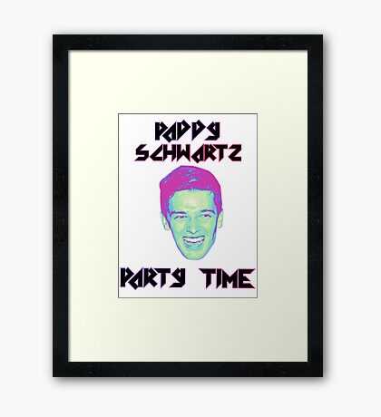 Paddy Schwartz, Party Timez? Framed Print