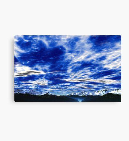 Mountain Blue Canvas Print