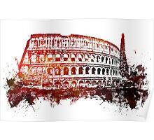 Rome, Colosseum skyline Poster