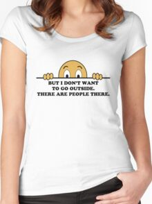 Social Phobia Humor Saying Women's Fitted Scoop T-Shirt