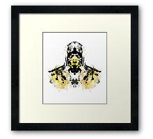 Rorschach Scorpion (MKX Version) Framed Print