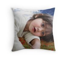 Ella Devi and the Butterfly Dream Throw Pillow