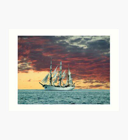 Quiet Evening at Sea Art Print