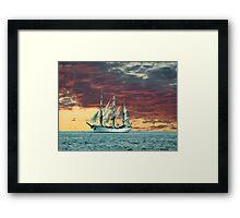 Quiet Evening at Sea Framed Print