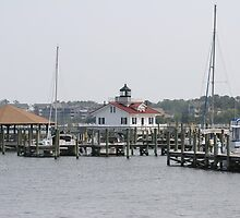 Roanoke Island Lighthouse by Karl R. Martin