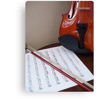 Violin lesson Canvas Print