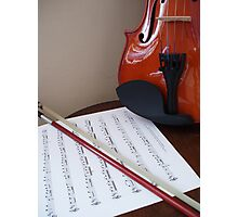 Violin lesson Photographic Print