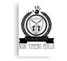 Non Timebo Mala Canvas Print