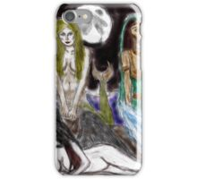 the mermaid, the djinneyeh, the succubus iPhone Case/Skin