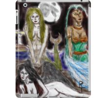 the mermaid, the djinneyeh, the succubus iPad Case/Skin