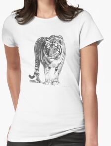 Bengal Tiger Illustration Womens Fitted T-Shirt