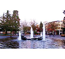 Downtown Eugene at 8th and Oak St. Photographic Print