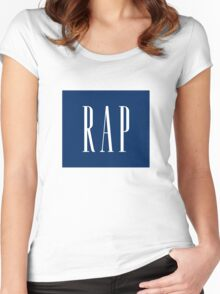 RAP - (white) Women's Fitted Scoop T-Shirt