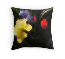 Angel Tulips Throw Pillow