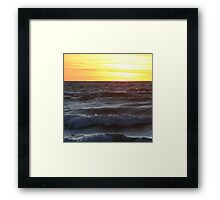 Superior Yellow Framed Print