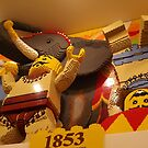 Lego New York Historical Scene, Lego Store Fifth Avenue, New York City by lenspiro