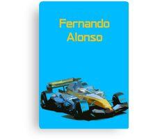 Fernando Alonso 2006 Renault R26 Canvas Print