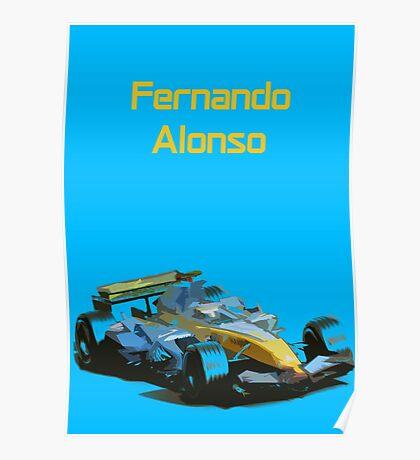 Fernando Alonso 2006 Renault R26 Poster