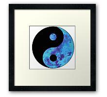 Blue Yin Yang Framed Print