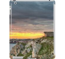 WWII Bunker at Sunset, France iPad Case/Skin