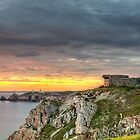 WWII Bunker at Sunset, France by Joshua McDonough Photography