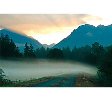 Fog Across the Road Photographic Print