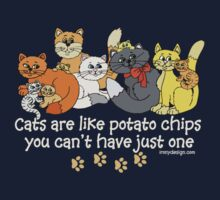 Cats are like potato chips Kids Clothes