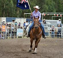 Picton Rodeo 1 Aust Flag by Sharon Robertson